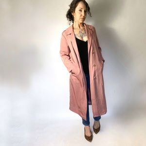 NWT SANDRO Robertine Rose Gabardine Trench Coat